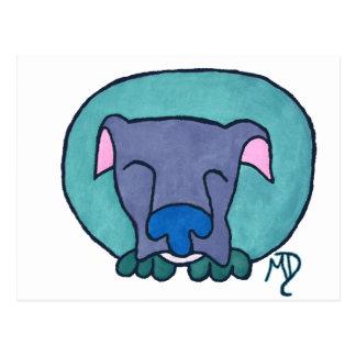 Dog, Tired Postcard