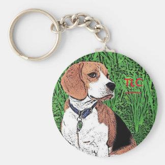 dog TLC Basic Round Button Keychain