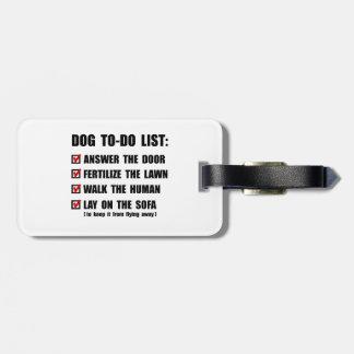 Dog To Do List Bag Tag