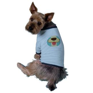 Dog Tongue, Nose On Vintage Retro Blue Cream Brown Pet Clothes