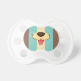 Dog Tongue, Nose On Vintage Retro Blue Cream Brown Pacifier
