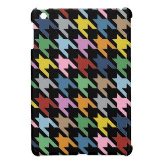 Dog Tooth Black Multi iPad Mini Covers
