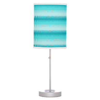 Dog tooth lines teal aqua green blue graphic lamp