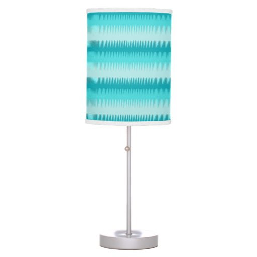 dog tooth lines teal aqua green blue graphic lamp zazzle. Black Bedroom Furniture Sets. Home Design Ideas