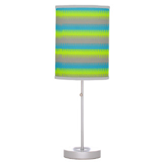 Dog tooth lines teal aqua green grey graphic lamp
