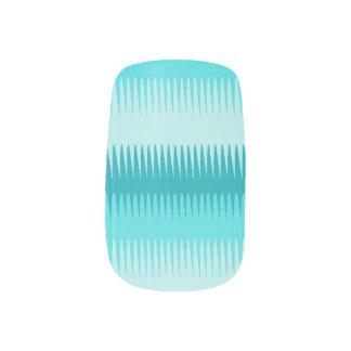 Dog tooth stripes aqua teal graphic nails minx ® nail art