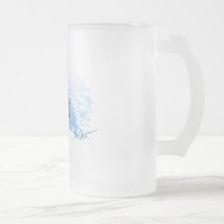 Dog Tooth Tuna frosted beer glass Frosted Glass Beer Mug