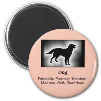 Dog Totem Animal Spirit Meaning 2 Inch Round Magnet