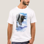 Dog touching water at the swimming pool T-Shirt