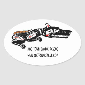 Dog Town Tribal Oval Sticker