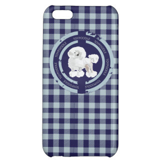DOG TOY POODLE  (BLUE) CASE FOR iPhone 5C