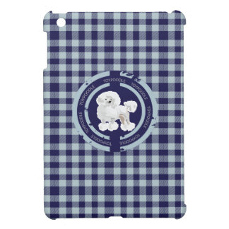 DOG TOY POODLE BLUE CASE FOR THE iPad MINI
