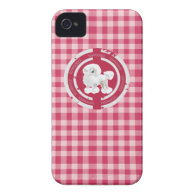 DOG TOY POODLE (PINK) iPhone 4 Case-Mate CASES