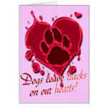 Dog Tracks! Customized Greeting Card