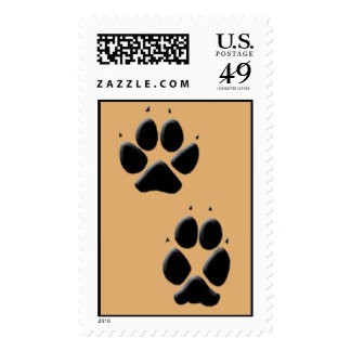 Dog Tracks Pawprints Stamp
