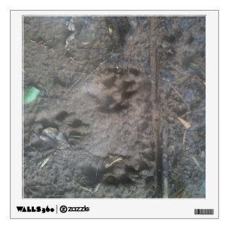 Dog tracks wall decal