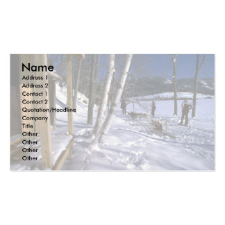 Dog trail, Quebec Business Card Template