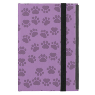 Dog Trails, Pattern With Dog Paws - Purple Cover For iPad Mini