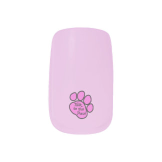 Dog Trails, Talk to the Paw - Pink Black Minx® Nail Wraps