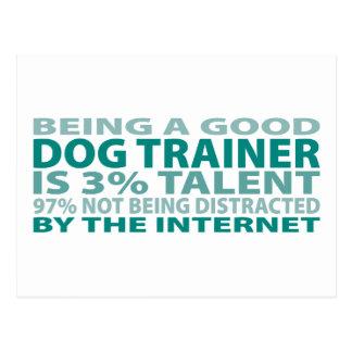 Dog Trainer 3% Talent Postcard