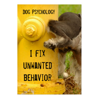 Dog trainer-be unforgettable large business cards (Pack of 100)