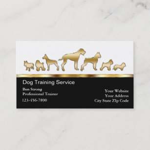 Dog trainer business cards templates zazzle dog trainer business cards colourmoves