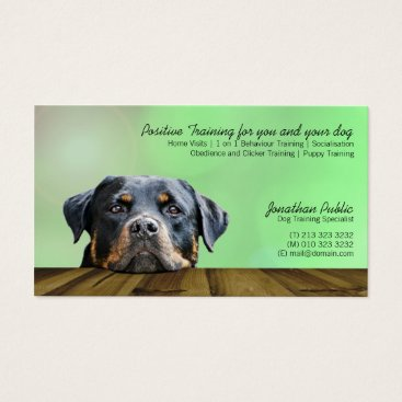 Professional Business Dog Trainer Business Cards
