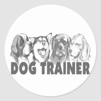 Dog Trainer Classic Round Sticker