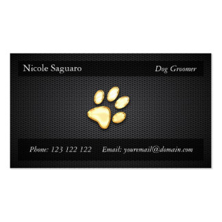 Dog Trainer Groomer Business Card