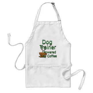 Dog Trainer Powered By Coffee Adult Apron
