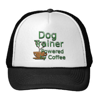 Dog Trainer Powered By Coffee Trucker Hat