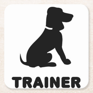 Dog Trainer Square Paper Coaster