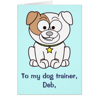 Dog Trainer Thank You Customizable Card