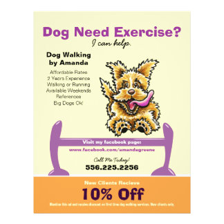 Dog Trainer Training Active Terrier Coupon Ad Flyers