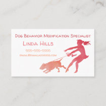 Dog Trainer Watercolor Dog Behavior Modification Business Card