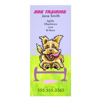 Dog Trainer Wheaten Terrier Pet Business Marketing Full Color Rack Card