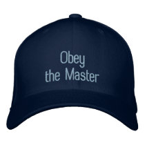 Dog Trainer's Obey the Master Custom Business Name Embroidered Baseball Cap