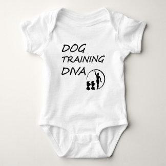 DOG TRAING DIVA BLACK AND WHITE BABY BODYSUIT