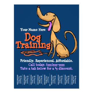 Dog Training.Advertising Promotional Flyer