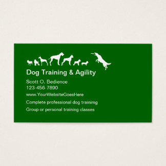 Dog Training And Agility Business Cards