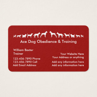 Dog Training And Obedience Business Card