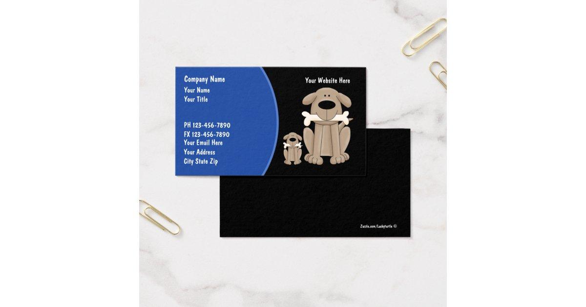 Dog training business cards zazzlecom for Dog trainer business card