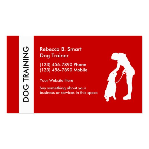 Dog Training Business Cards Business Card Template