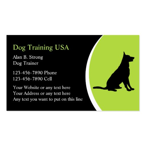 Dog training business cards zazzle for Dog trainer business card