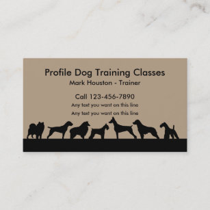 Dog training business cards templates zazzle dog training classes business card colourmoves