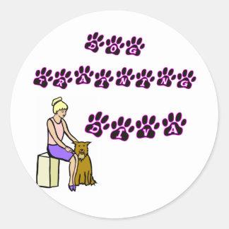 Dog Training Diva Classic Round Sticker