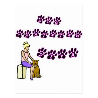 Dog Training Diva Postcard