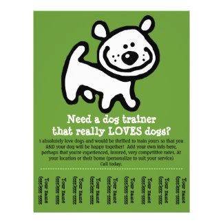 """Dog Training, Walking, Grooming, Sitting promo tem 8.5"""" X 11"""" Flyer"""