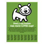 Dog Training, Walking, Grooming, Sitting promo tem Personalized Flyer