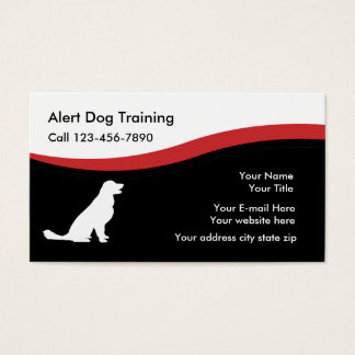 Dog Traning Business Cards